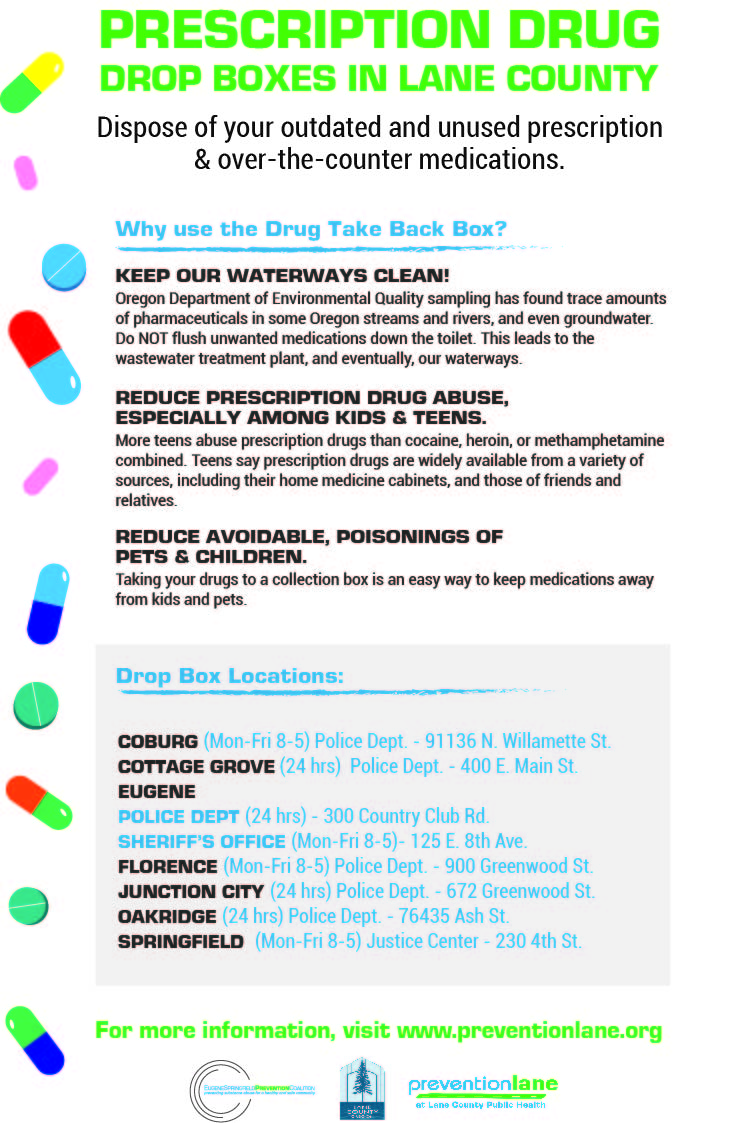 Drug Take Back Locations In Lane Amp Douglas Counties