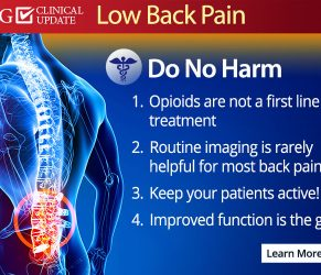 OPG back pain treatment guidelines