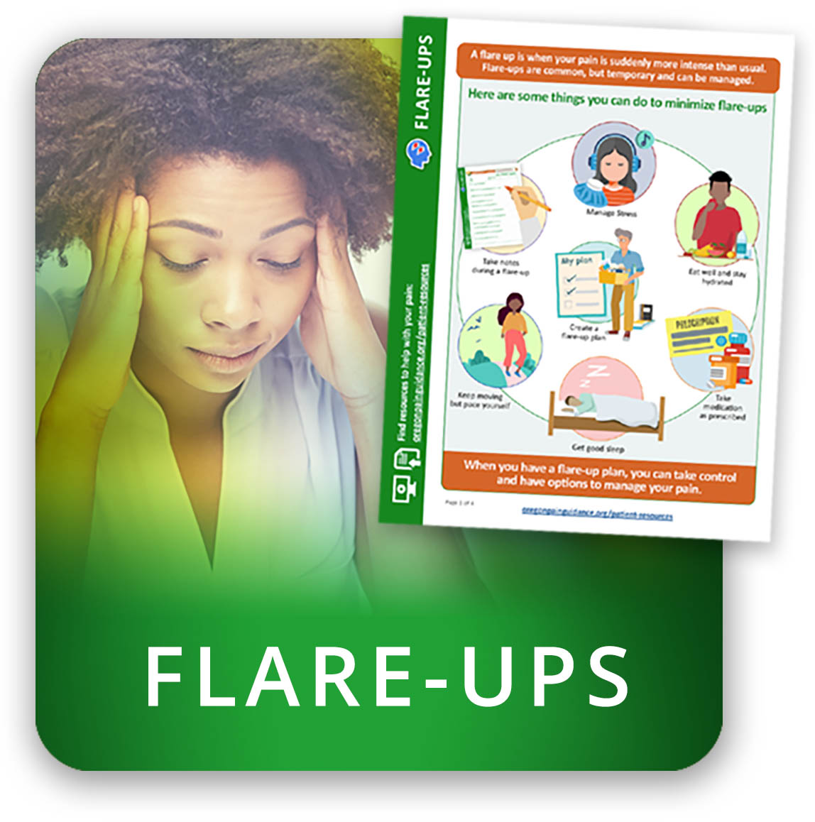 Understand how to manage pain flare-ups