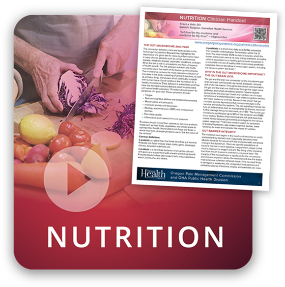 Nutrition and pain